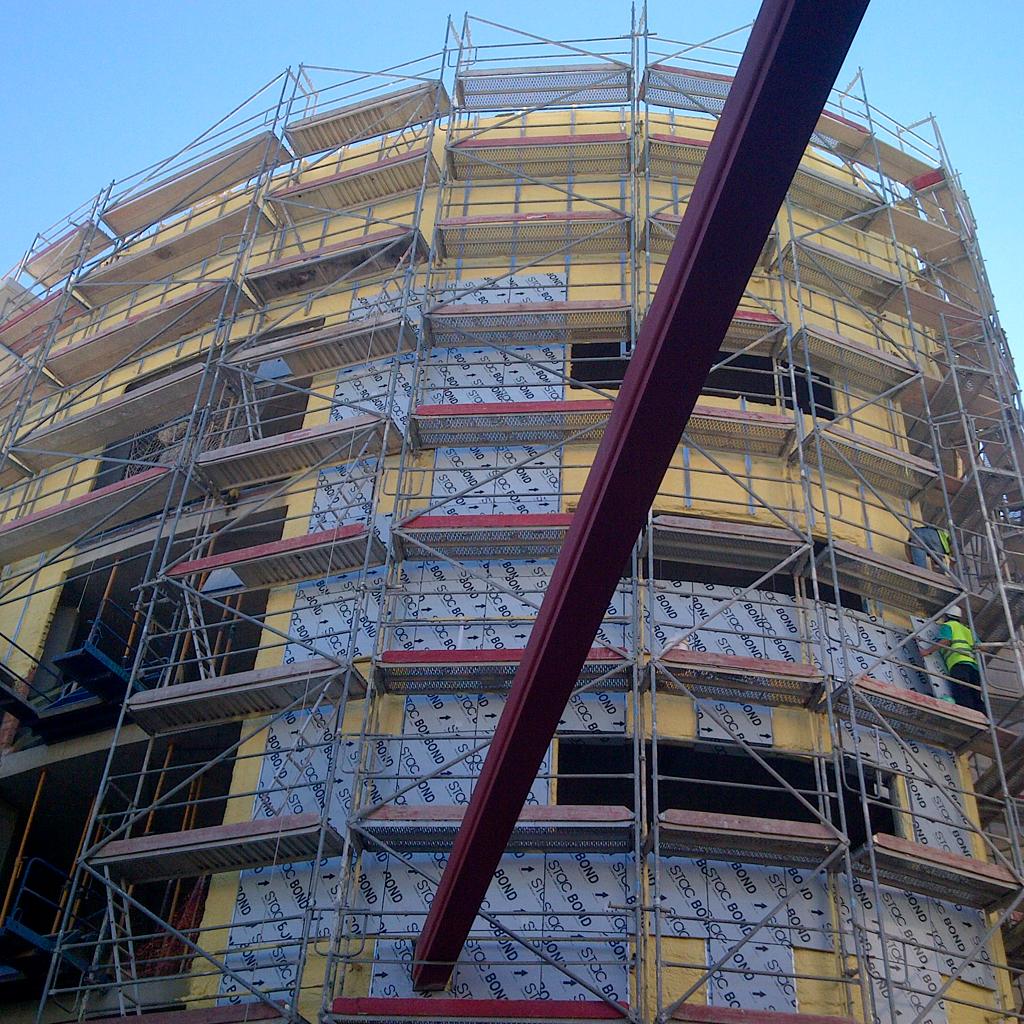 Fachada ventilada estructuras metálicas